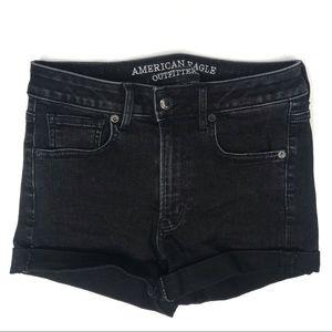 ♡ 5/$25 ♡American Eagle Black Super Hi-Rise Shorts